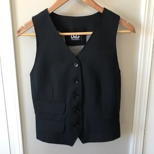 Dolce & Gabbana Wool Cotton Pinstriped Vest